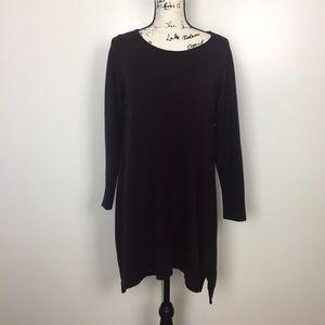 Eileen Fisher Merino Wool A-Line Tunic Sweater M